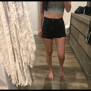 Topshop mom high waisted rise Jean shorts 25